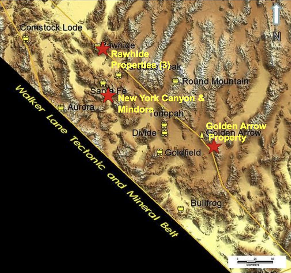 Emgold Mining Corporation Walker Lane Produktion