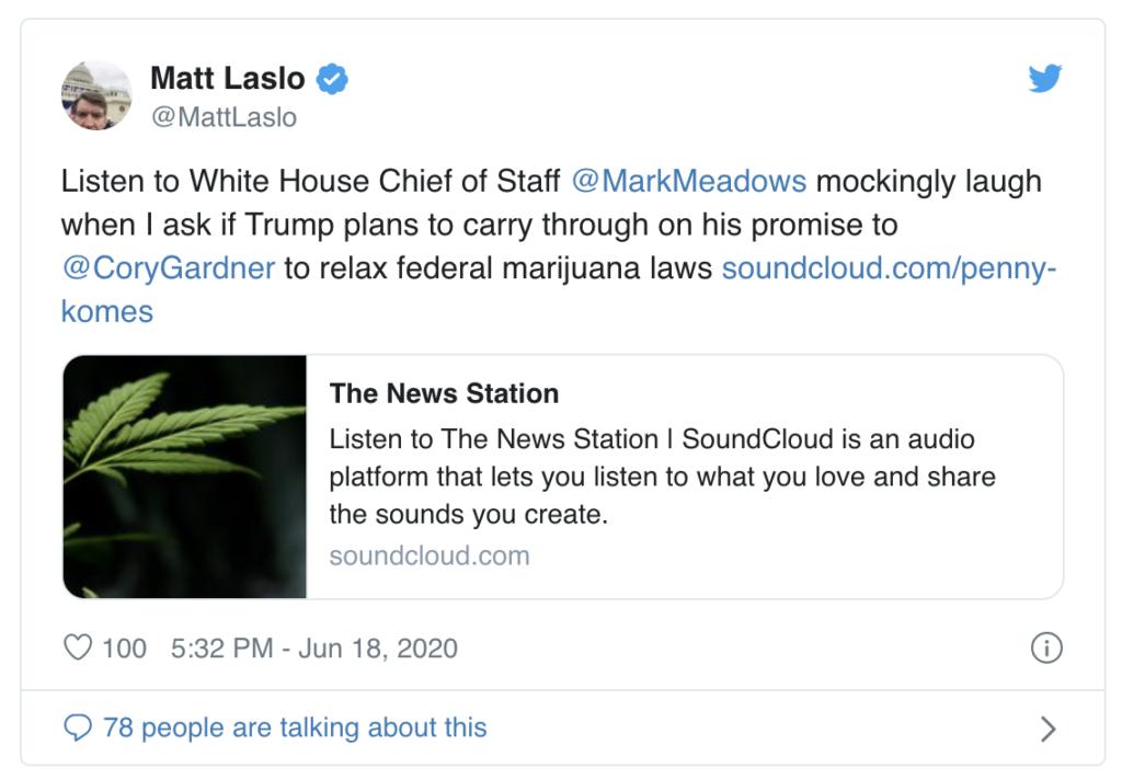 Der Twitter Beitrag von Laslo löste einen Streit auf Twitter aus