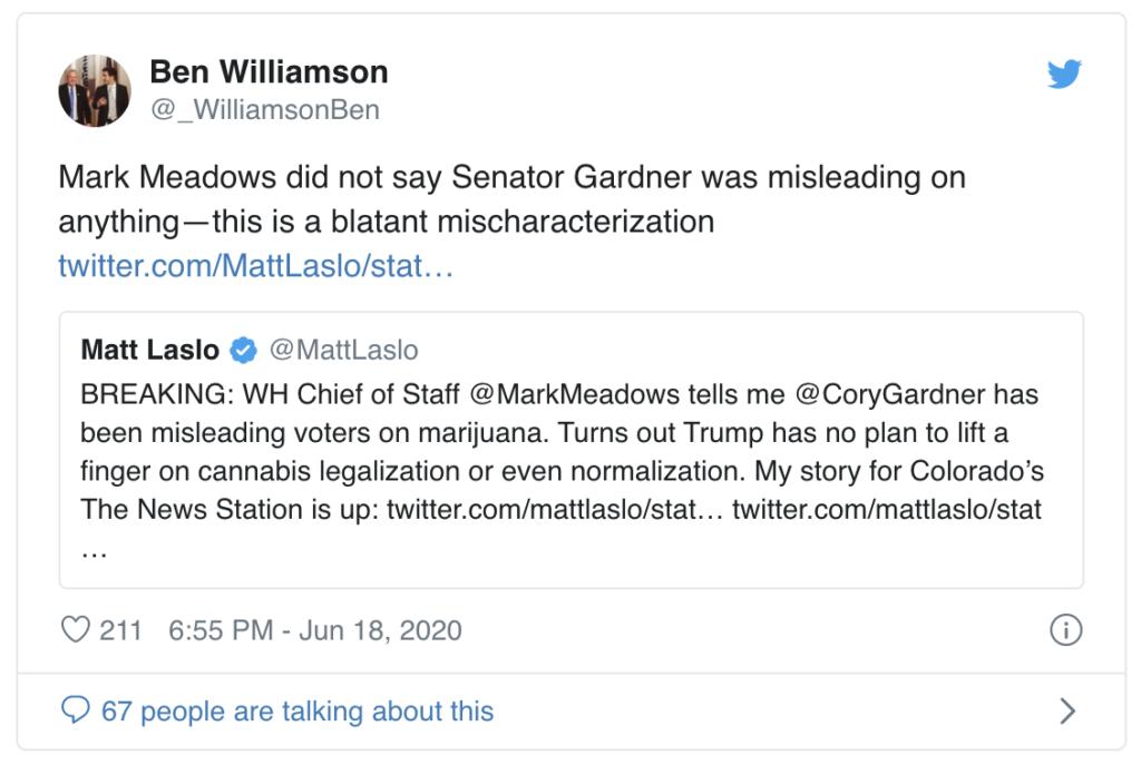 Die Marihuana Legalisierung scheint kein Platz in Trumps Wahlkampf zu haben.